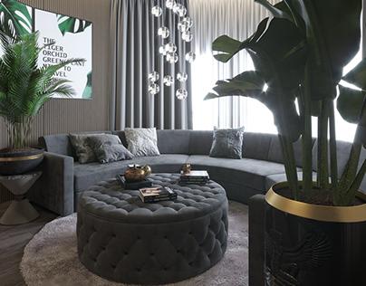 Interior Design of Round room style