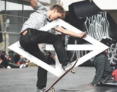 """GE Skateboarding"" logotype concept."