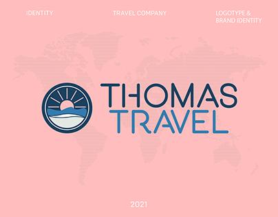 """Айдентика для туркомпании """"Thomas Travel"""""""