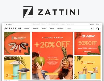 Novo Menu da Zattini