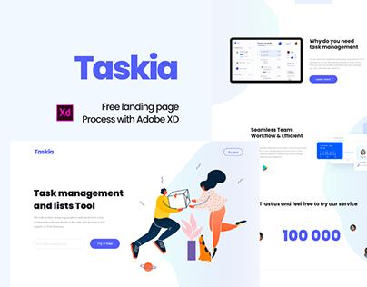 Taskia - Free Creative Landing Page