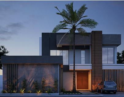 modern villa in saudi arabia