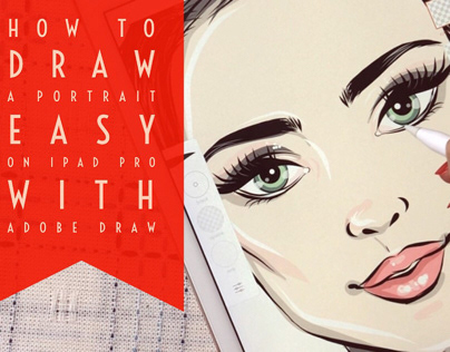 How to draw a portrait easy with Adobe Illustrator Draw