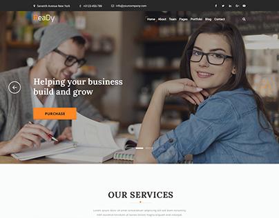 Ready - Corporate Website Template Design