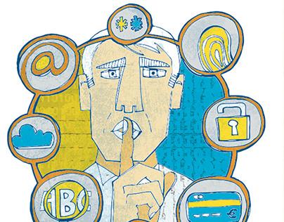 Ilustraciones para artículo de Protección de Datos