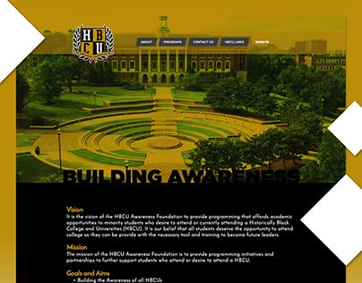 HBCU Awareness Foundation Website Design