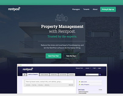 Rentpost – Property Management Website Design