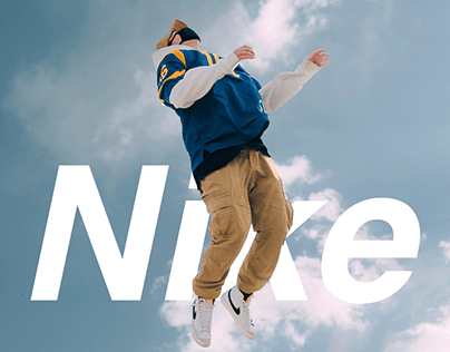 Web design for Nike shoes