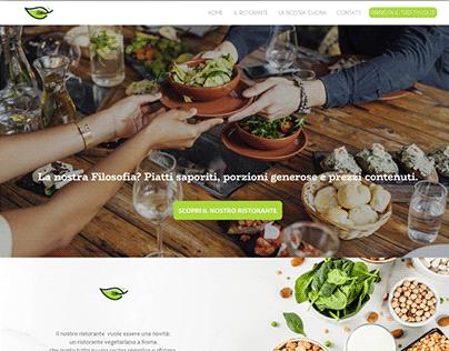 Website concept for a vegan restaurant