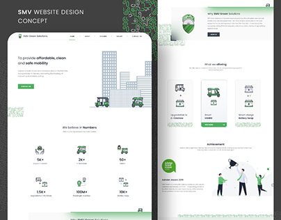 SMV Green Solution Website Design Concept