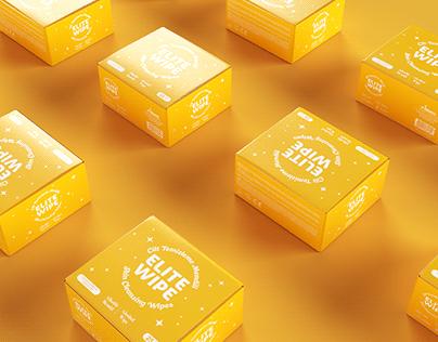 EliteWipe Skin Cleansing Wipes Package Design