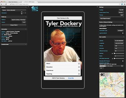 Tyler Dockery's Bio Application