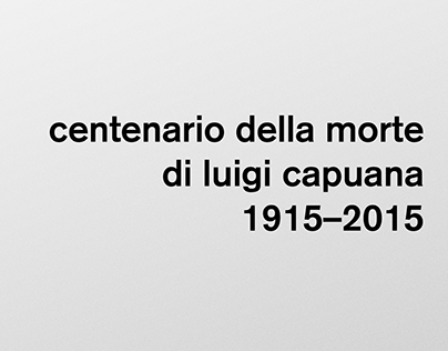 Centenario della morte di Luigi Capuana - poster