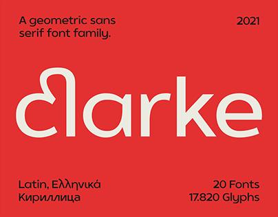 SK Clarke Typeface
