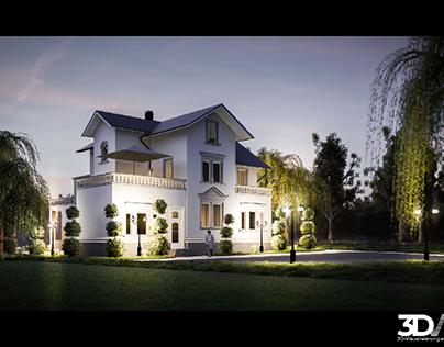 Jugendstilvilla nahe Leipzig   3D-Visualisierung.eu
