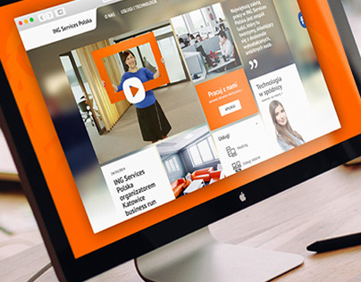 ING Services Poland New Corporate Website