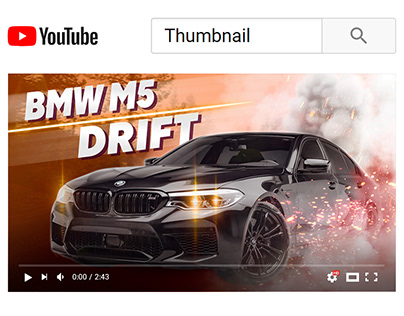 YouTube Thumbnail - Car video