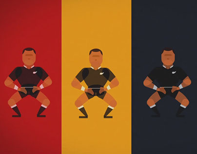 All Blacks rugby Haka animation