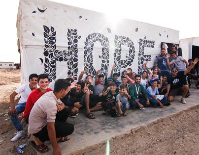 HOPE Mural - Refugee camp, Iraq