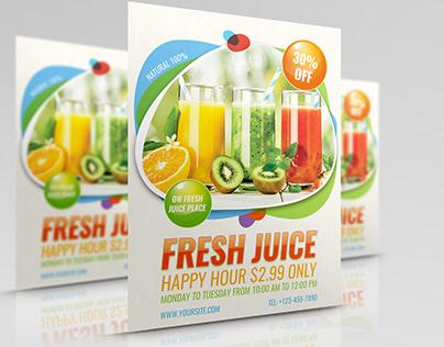 Fresh Juice Flyer Template