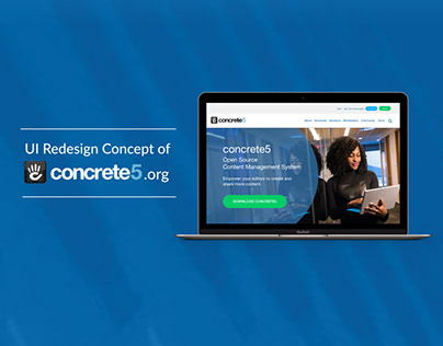 UI Redesign Concept of concrete5.org
