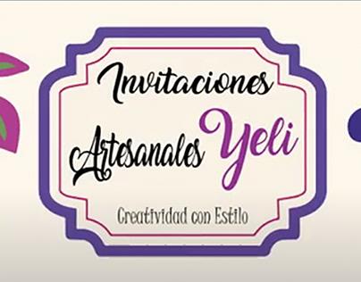 Invitaciones Artesanales Yeli - Portada de Facebook