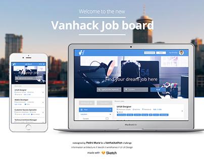 Redesign Vanhack Job Board