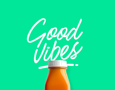 GoodVibes Cold Pressed Juice Packaging