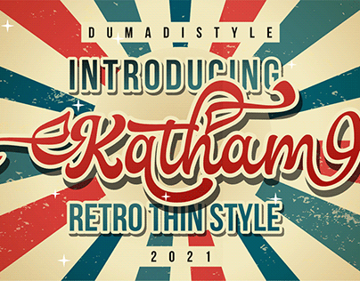 Katham - Retro Font