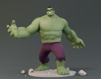 HULK Cartoon figure design