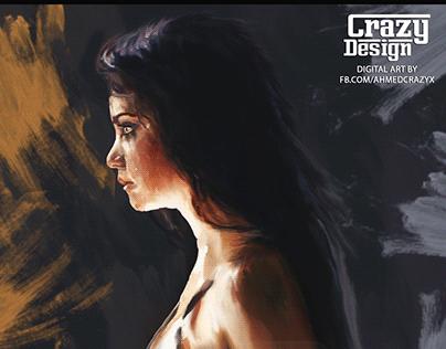Sad Girl Digital Art