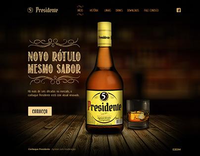 Hotsite Conhaque Presidente
