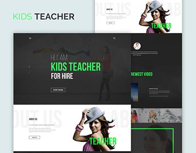 Kids Teacher_Web Template