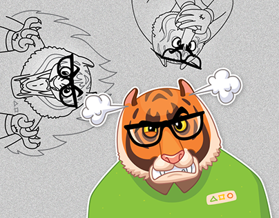 Tiger. Sticker pack for Ingate