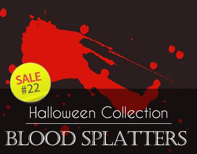 Sale#22: Halloween Collection - Blood Splatters