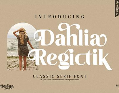 Dahlia Regictik – Luxury Serif Font