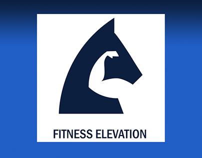Fitness blog logo design.