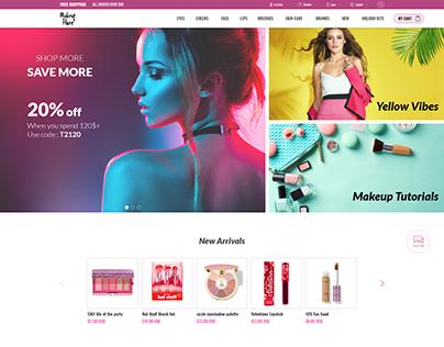 Makeup Flare Ecommerce website