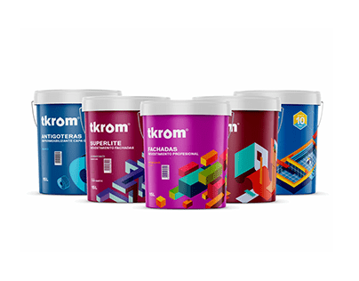 TKROM Pinturas Packaging Illustration