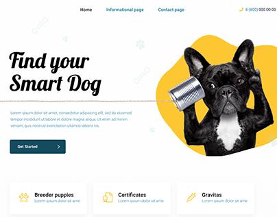 Landing page design for smart dog