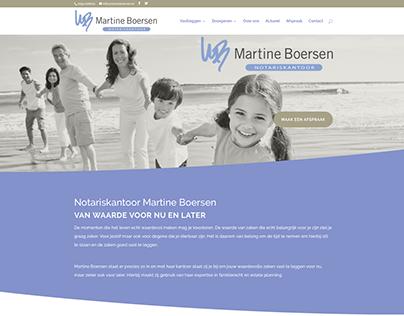 Merkontwikkeling en website voor Notariskantoor Boersen