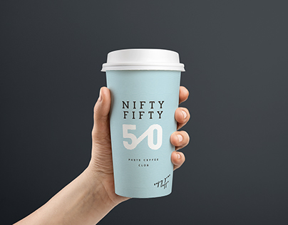 Nifty Fifty coffee cup design