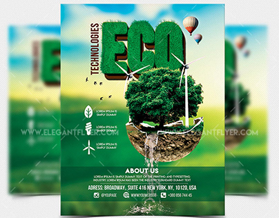 Eco Technologies – Free Flyer Template in PSD