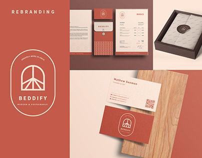 Complete Brand Identity Design-Rebranding Beddify Logo