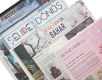 Editorial Design for Beyaz Fırın