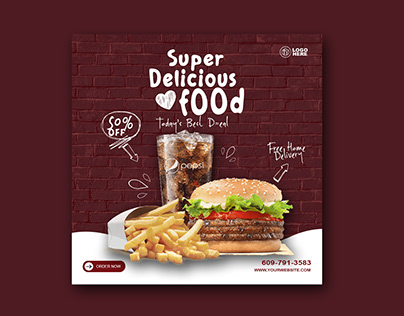 Food Ad Banner Design