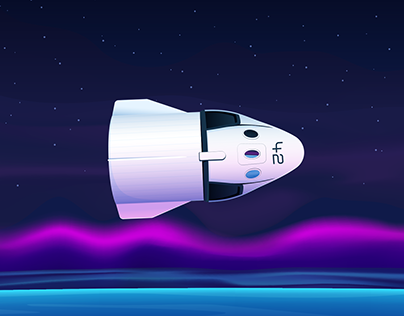 SpaceX Dragon (animated 3d model)