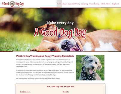 A Good Dog Day Web Redesign
