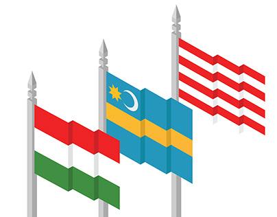 Magyar zászló,Székely zászló,árpádsávos zászló