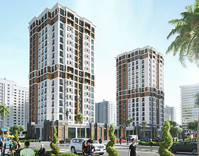 Building, high-rise building, facade